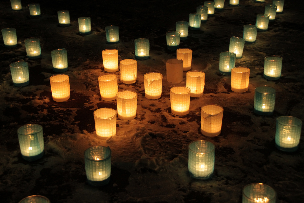 Candle night in SAPPORO UNIV 2009.