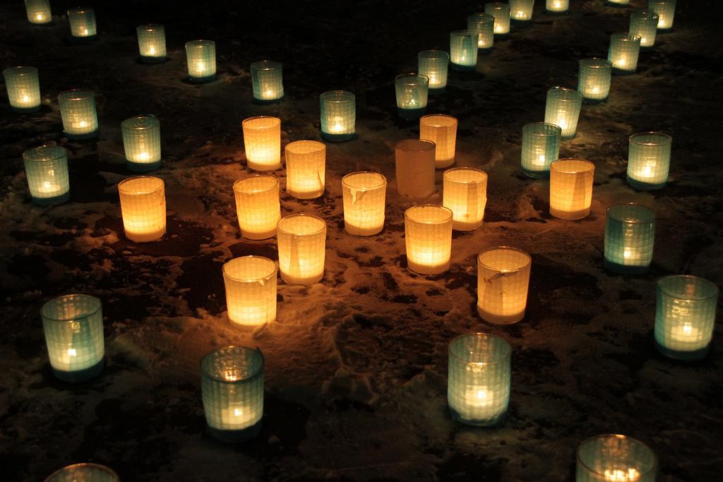 Candle night in SAPPORO UNIV 2009.